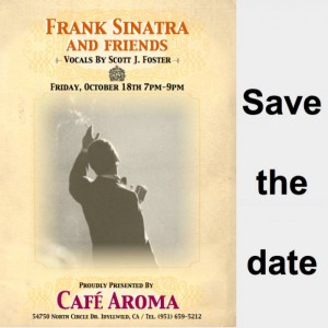 "Poster for ""Frank Sinatra & Friends"" event Oct. 18"