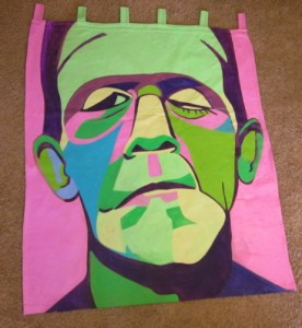 Pop Art Portrait of Boris Karloff by Marcia Gawecki