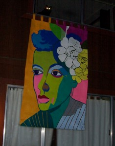 Billie Holiday Banner outside my Idyllwild home. 40 x 66 inches.