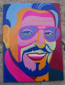 Herb Jeffries 6 x 8 inches Acrylic