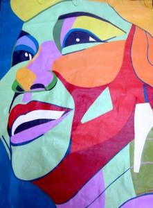Etta James Banner by Marcia Gawecki 38 x 54 1/2 inches.