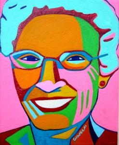 My mother in Pop Art colors!