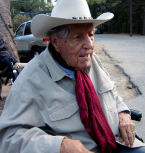 Herb Jeffries looks pretty dapper at age 100. Cafe Aroma, Idyllwild.