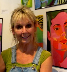 Artist Nanci Killingsworth with Michael portrait by Marcia Gawecki.