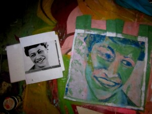 The reverse image of Ella Fitzgerald by Marcia Gawecki was sweet too!